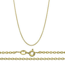 18K Gold over .925 Sterling Silver 2mm Italian Rolo Cable Chain Necklace