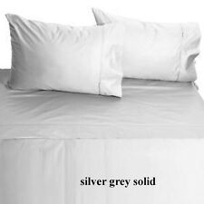 [ SILVER SOLID ] COM.BEDDING COLLECTION 400TC 100% EGYPTIAN COTTON @ ALL SIZE