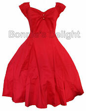 NEW COLLECTIF RED DOLL 1950S ROCKABILLY SWING RETRO VINTAGE PIN UP DRESS 8-16