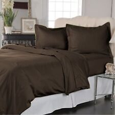 [ CHOCOLATE SOLID ] COM.BEDDING COLLECTION 400TC 100% EGYPTIAN COTTON @ ALL SIZE