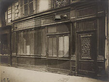PLAQUE ALU REPRODUISANT UNE PHOTO EUGENE ATGET MAISON CLOSE