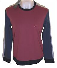 Bnwt Men's Fcuk French Connection Long Sleeved T Shirt Top RRP£40 Maroon New