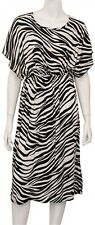 No 1 Funwear Factory Zebra Print Batwing Sleeve Open Tie Back Smock Dress