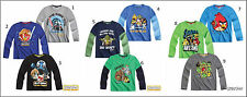 Brand New Boys Kids Long Sleeve Official Angry Birds Star Wars T Tee Shirt Top