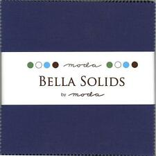 Bella Solids Blue Charm Pack by Moda, 42 5-inch Precut Fabric Squares 9900PP-48