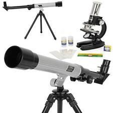 KIDS TELESCOPE CHILDRENS MICROSCOPE SCIENCE SET SCIENTIFIC EDUCATIONAL TOYS FUN