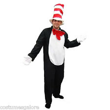 MENS Costume Fancy Dress Up SW Halloween Party Adult Cat in the Hat Onesie