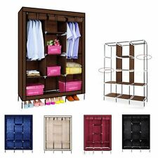 Large Space Storage Portable Bedroom Triple Wardrobe Stable Easy Assemble