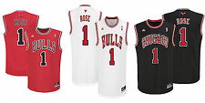 Youth Chicago Bulls Jersey #1 Derrick Rose Printed NBA Adidas Official