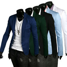 Stylish Mens Casual Dress Slim Fit One Button Stylish Suit Blazer Coats Jackets