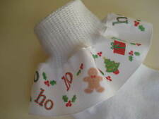 Ruffle Socks Christmas Holly Tree Gingerbread Candy for Infant Toddler Girls
