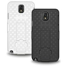 AMZER HARD SHELL CASE + BELT CLIP HOLSTER + STAND FOR SAMSUNG GALAXY NOTE 3 N900