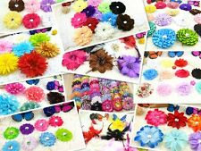 26 Style! Lot Baby Girls Gerber/Daisy/Lily/Peony/Frayed Shabby Hair Clip Flowers