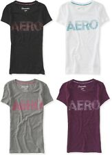 AEROPOSTALE womens girls AERO STUDDED Logo T Shirt Tee Top S,M,L,XL,2XL NEW NWT