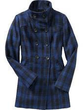 NWT $90 OLD NAVY  WOOL BLEND LONG PEACOAT COAT JACKET