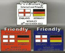 2013 Friendly - England v Germany ~ Match Day Badge