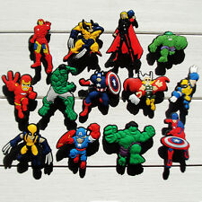 13-65pcs The Avengers Child PVC Shoe Charms PVC Shoe Accessories Kids Party Gift