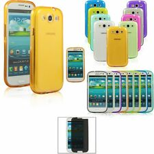 CLEAR Color JELLY TPU Gel Soft Case Cover Skin For Samsung Galaxy S3 SIII I9300