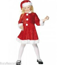 MINI MISS SANTA DRESS CHRISTMAS XMAS GIRL'S FANCY DRESS ALL SIZES
