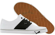 Brand New Puma EL ACE Leather White/Black Men's Shoes NIB  349901-15