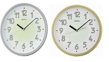 New Wall Clock Luminous Seiko Gold & Silver Easy To Read Luminous Dials No Sound