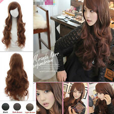 Sexy Lady Natural Long Wavy Curly Hair Full Wig Colors Women Girls Fashion Wigs