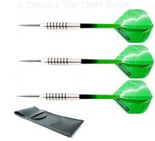 Nodor Green Panthers Tungsten Darts + Lightning Flights + Stems, Case  24g - 28g