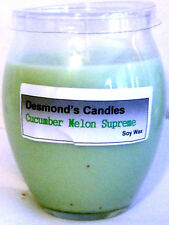 Desmond's Candles Homemade Scented Cucumber Melon Supreme Soy Jar Candle