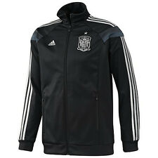 adidas Spain World Cup WC 2014 Soccer Presentation Jacket Black Brand New