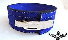 Quest Varsity Lever Belt Weightlifting Powerlifting Strongman - BLUE