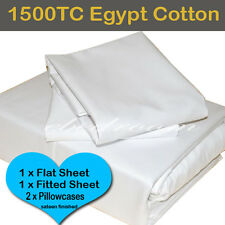Double/Queen/King Bed-New Egyptian Cotton 1500TC Multi Colours Deluxe Sheet Set