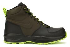 Nike Manoa LTH TXT 613546 002 New Youth Kids GS Black Loden Volt Athletic Shoes