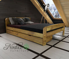 "*NODAX* New Pine EU Size 120/200 cm Small Double Bed/Select Underbed Drawer ""F2"""