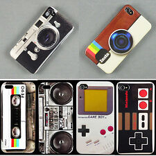 Retro Stlye Fashion Deluxe Glossy Hard Back Skin Case Cover For Apple Iphone 4 5