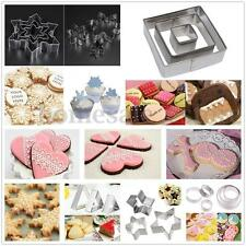 3pcs Stainless Steel Cookie Biscuit Pastry Cake Decorating Mold Mould Cutter