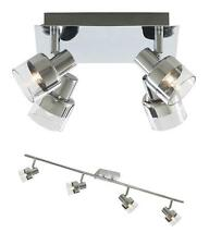 Searchlight Mercury Light Ceiling Spotlight Polished Chrome & Glass Square Bar