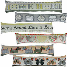 Vintage Design Tapestry Style Filled Draught Excluder - 6 Designs - Chic Home
