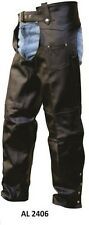 Unisex Chaps Split Cowhide Allstate Leather Motorcycle Chaps AL2406