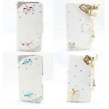 1x 3d bling bow flower fashion leather wallet flip diamond case cover for LG new