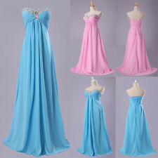 Beaded Sweetehart Long Party Evening Formal Bridesmaids Wedding Gown Prom Dress