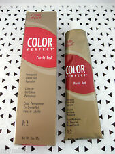 Wella COLOR PERFECT Permanent PURELY RED Haircolor *YOUR CHOICE* gl bx rd tb
