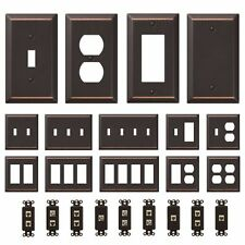 Oil Rubbed Bronze Wall Switch Plate Toggle Outlet Cover Rocker Duplex Wallplate