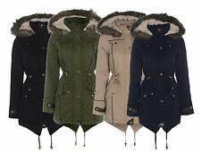 New Brave Soul Long Parka Branded Coat Fish Tail Jacket HOODED FUR COLLAR S-XL