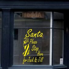 SANTA STOP HERE wall sticker shop window chirstmas xmas stickers decal vinyl