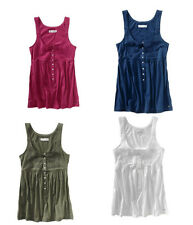 AEROPOSTALE EMBROIDERED HENLEY TANK 3 color choices