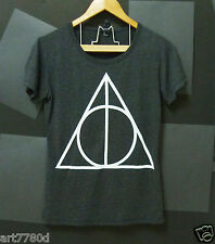 Triangle Deathly Hallows Harry Potter Light black Women,Teen tshirt S M L XL