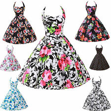 New Vintage Dress 1950s 1960s Rockabilly Pinup Party Swing Prom Dress Size S~XL