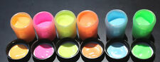 GLOW in the DARK Daytime Visible & UV Re-active 2oz x 6 COLOR PAINT SET (12oz)