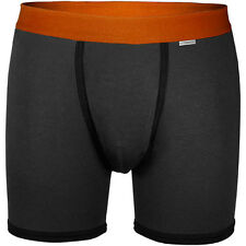 MyPakage PKG Weekday – Charcoal/Orange Breif Modal/Spandex Boxers NEW!