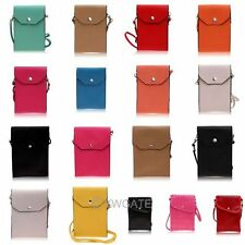 Hot Water-Resistant Leather Pouch Wallet Case Purse Bag For CellPhone+Neck Strap